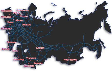 колеи железных дорог стран